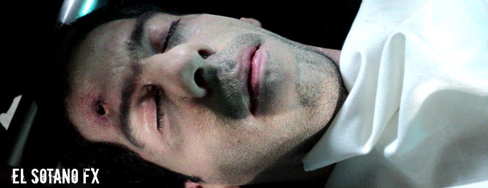 Maquillaje FX - orificio de bala - Video clip Morgue Corazón - Jauría (2011)
